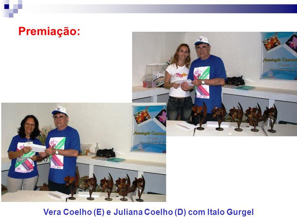 Premiação: Vera Coelho (E) e Juliana Coelho (D) com Italo Gurgel