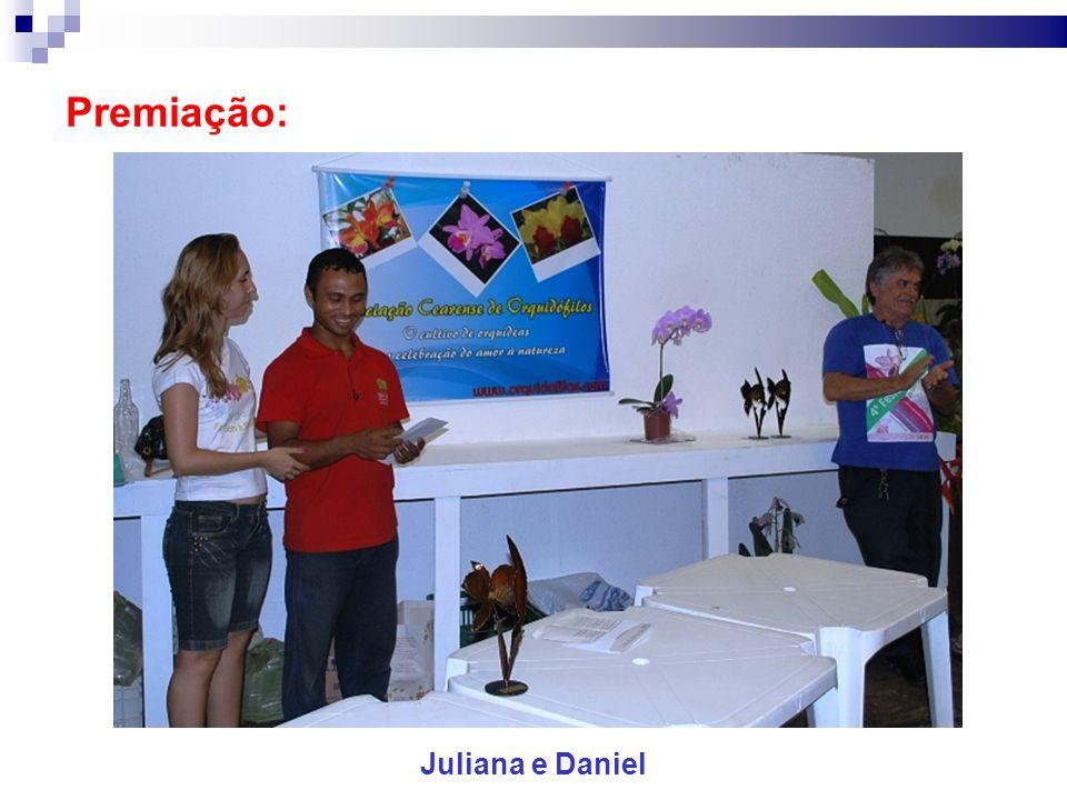 Premiação: Juliana e Daniel