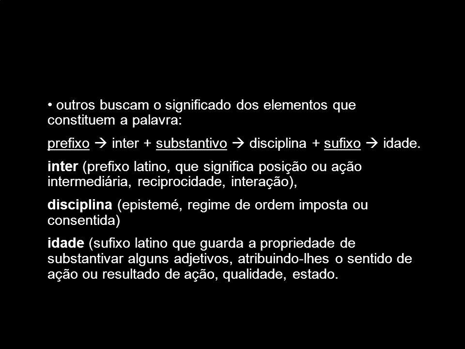 Piaget Conceitua interdisciplinaridade em contraponto às definições de multidisciplinaridade e transdisciplinaridade.