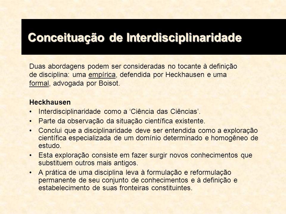 Ivani Fazenda Com vistas a esclarecer toda essa problemática terminológica, Ivani Fazenda faz, com base nas definições de Piaget, Jantsch e Hechausen, uma síntese dos conceitos de pluri, multi, trans e interdisciplinaridade.