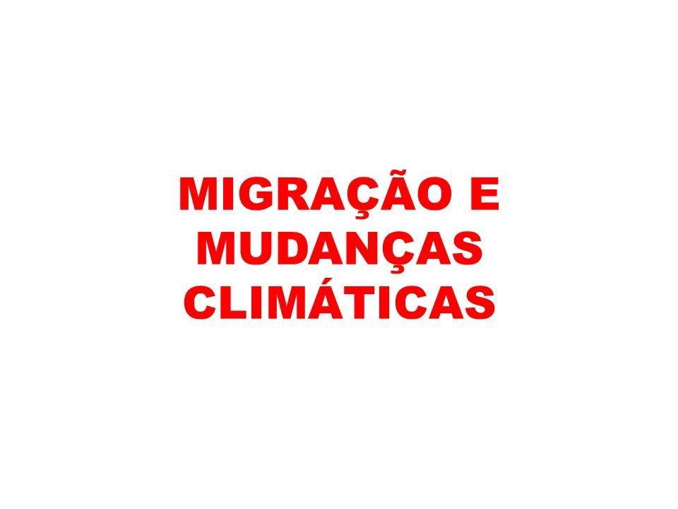 MIGRAÇÃO E MUDANÇAS CLIMÁTICAS