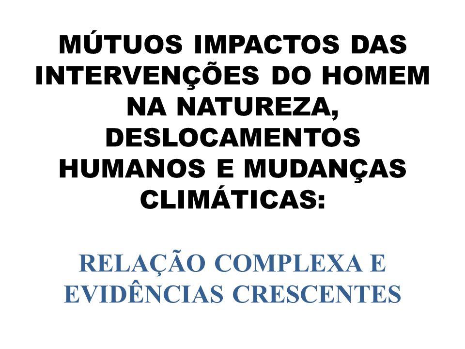 MÚTUOS IMPACTOS DAS INTERVENÇÕES DO HOMEM NA NATUREZA, DESLOCAMENTOS HUMANOS E MUDANÇAS CLIMÁTICAS: RELAÇÃO COMPLEXA E EVIDÊNCIAS CRESCENTES
