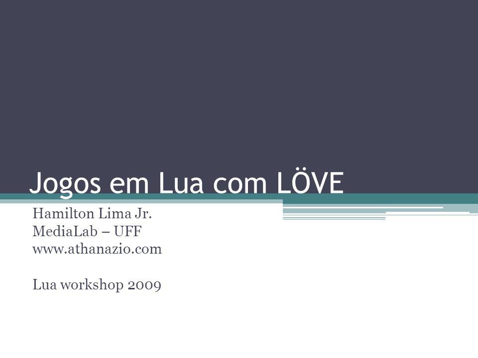 Jogos em Lua com LÖVE Hamilton Lima Jr. MediaLab – UFF www.athanazio.com Lua workshop 2009