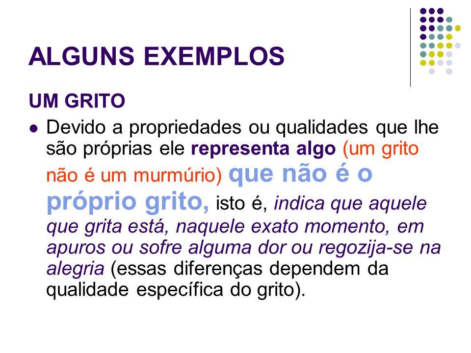 GRITO Representa uma outra coisa EFEITO INTERPRETATIVO: Correr para ajudar, ignorar, gritar junto, etc.