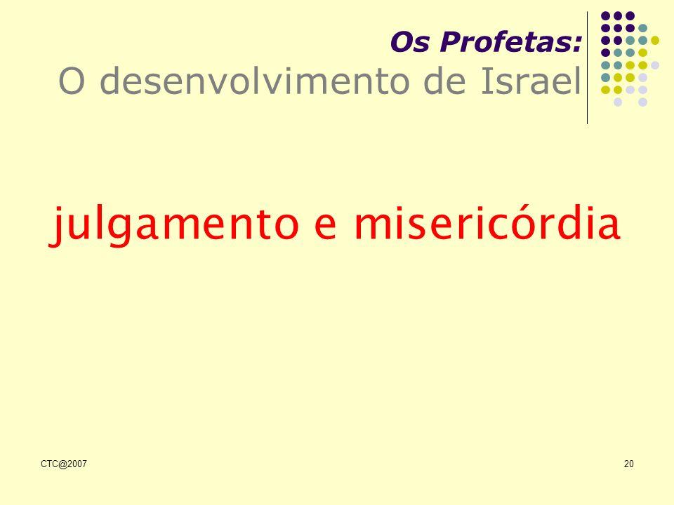 CTC@200720 Os Profetas: O desenvolvimento de Israel julgamento e misericórdia