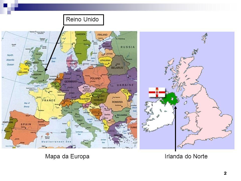 Mapa da Europa Irlanda do Norte Reino Unido 2