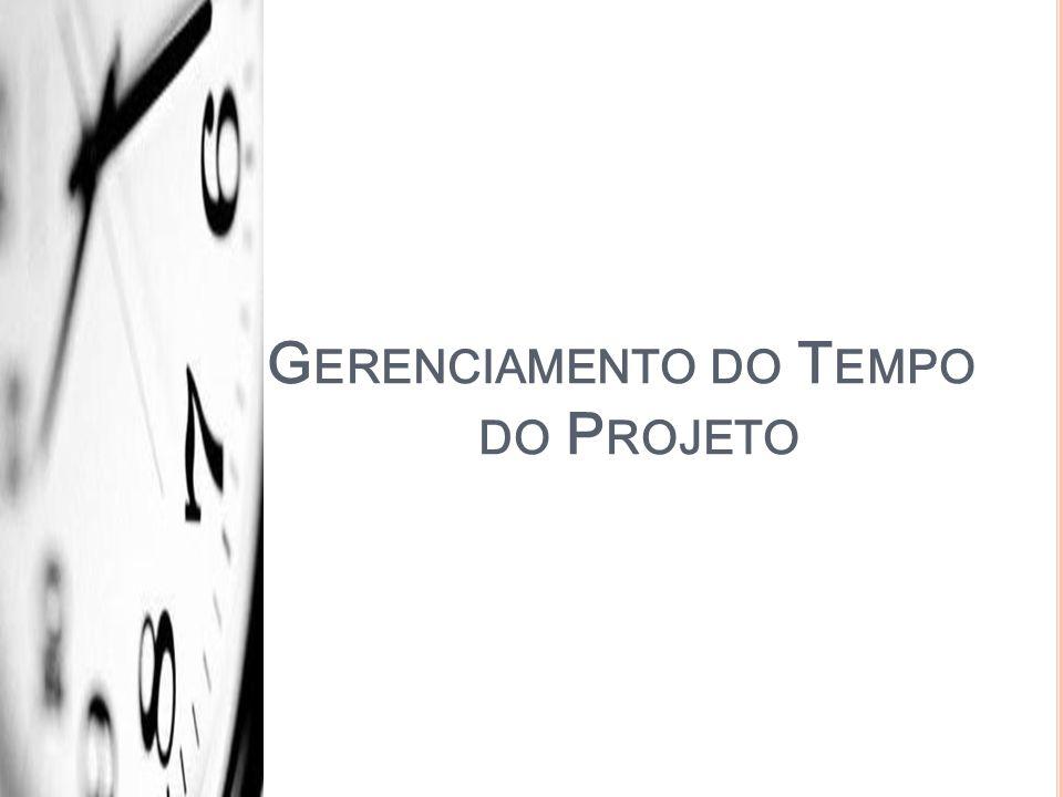 G ERENCIAMENTO DO T EMPO DO P ROJETO