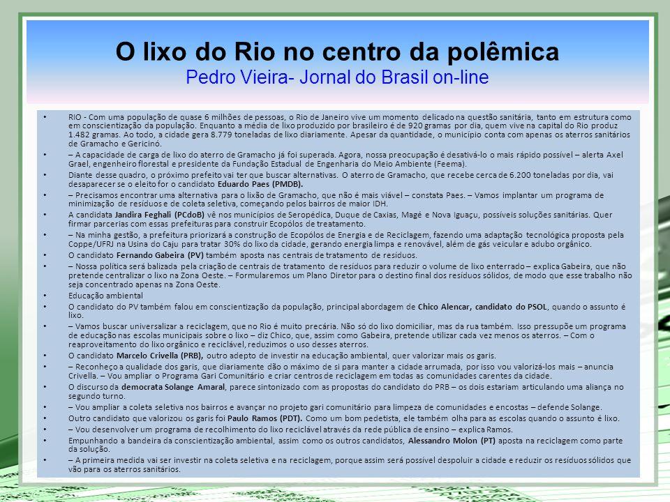 RIO - Com uma população de quase 6 milhões de pessoas, o Rio de Janeiro vive um momento delicado na questão sanitária, tanto em estrutura como em cons
