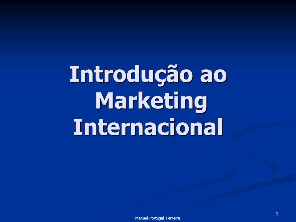 1 Introdução ao Marketing Internacional Manuel Portugal Ferreira