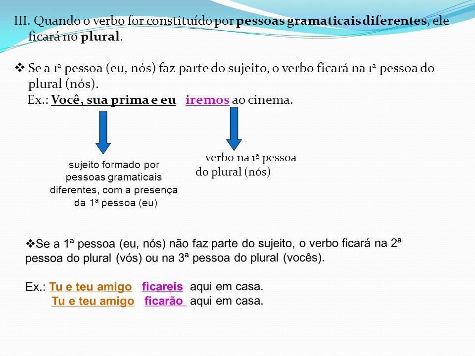 Quando os núcleos do sujeito vierem ligados pela conjunção ou , o verbo ficará no singular se houver idéia de exclusão.