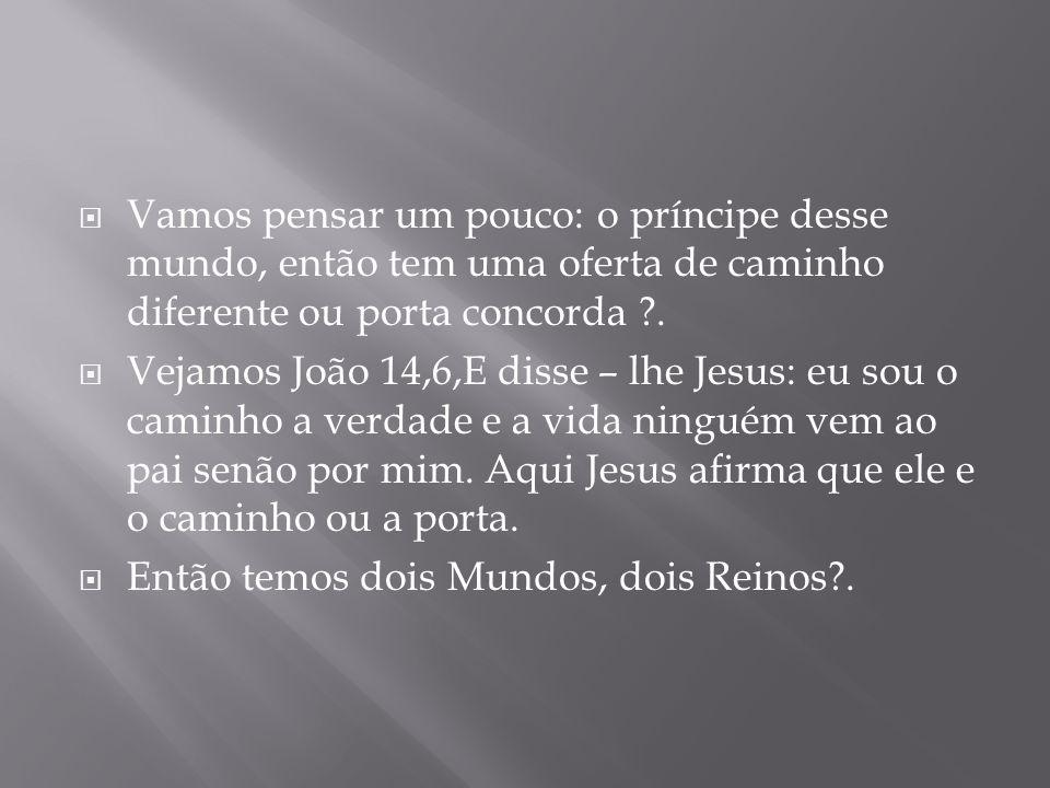 A questão do reino de Deus veja, em João 3,3 que diz: Jesus respondeu, na verdade na verdade te digo que aquele que não nascer de novo, não pode ver o reino de Deus.