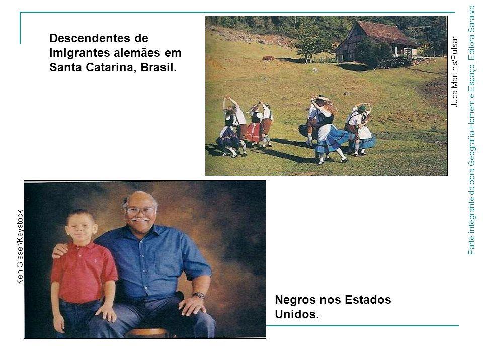 Parte integrante da obra Geografia Homem e Espaço, Editora Saraiva Descendentes de imigrantes alemães em Santa Catarina, Brasil. Juca Martins/Pulsar N