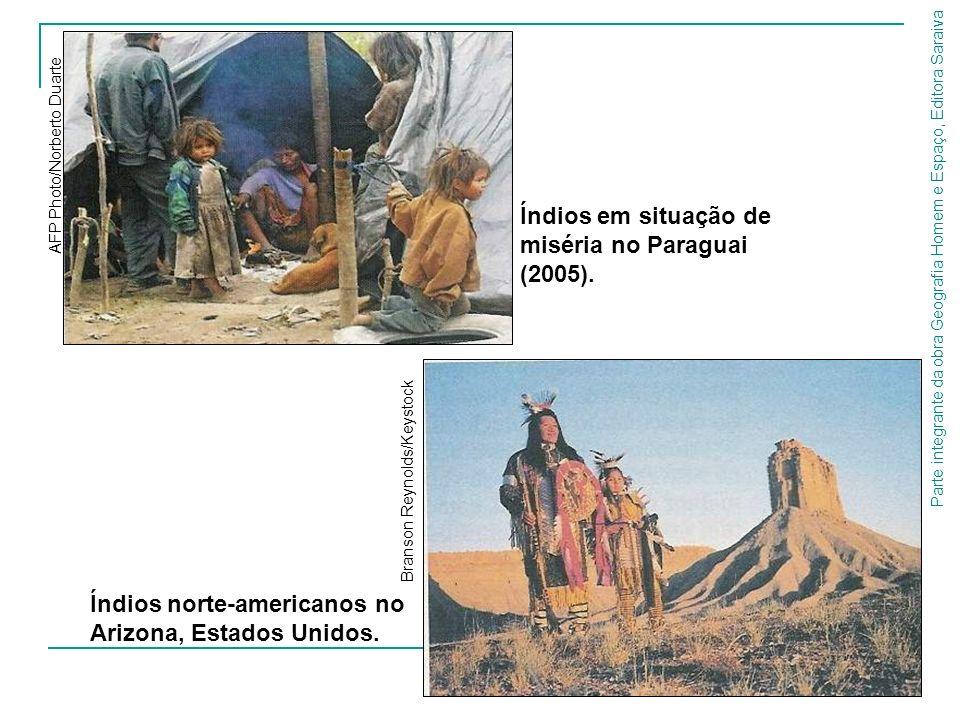 Parte integrante da obra Geografia Homem e Espaço, Editora Saraiva Índios norte-americanos no Arizona, Estados Unidos. Branson Reynolds/Keystock Índio