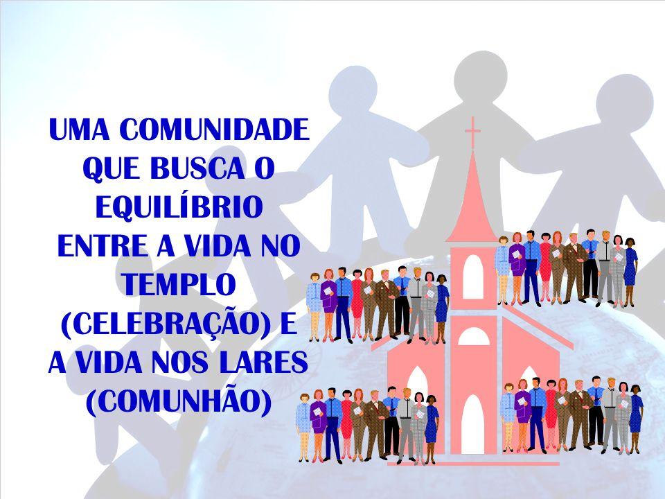 A IGREJA EM CÉLULAS SE EXPRESSA na asa corporativa sinalizada pelo Templo… na asa comunitária sinalizada pelo pequeno grupo familiar.
