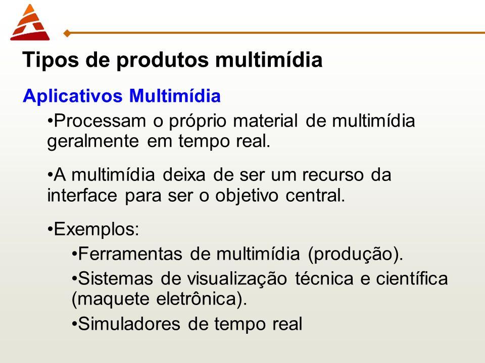 Aplicativos Multimídia Processam o próprio material de multimídia geralmente em tempo real. A multimídia deixa de ser um recurso da interface para ser
