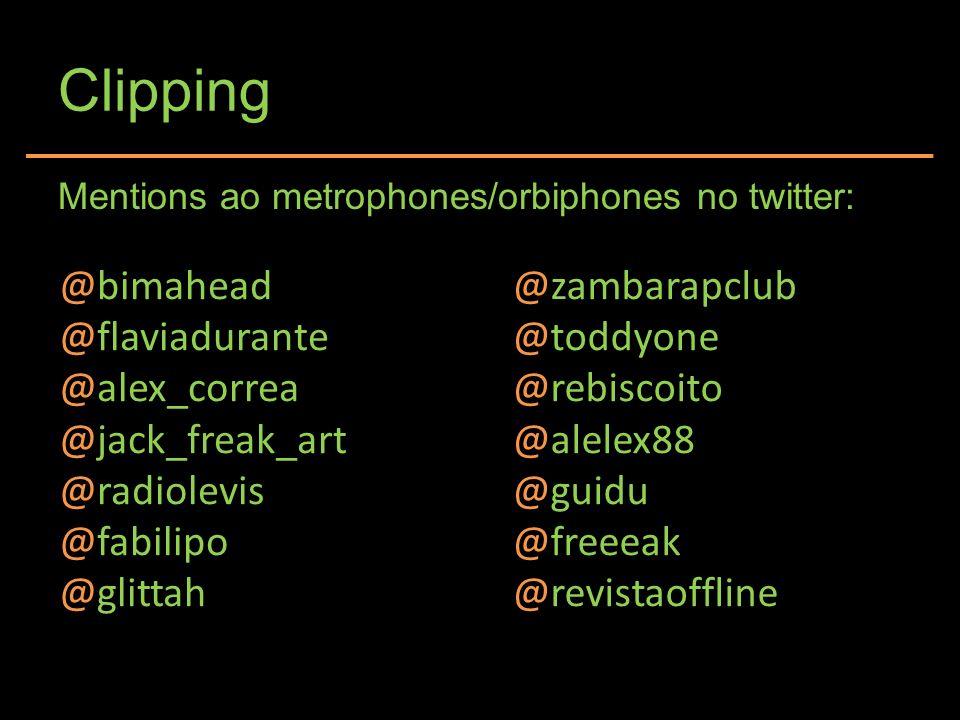 Clipping Mentions ao metrophones/orbiphones no twitter: @bimahead @flaviadurante @alex_correa @jack_freak_art @radiolevis @fabilipo @glittah @zambarap