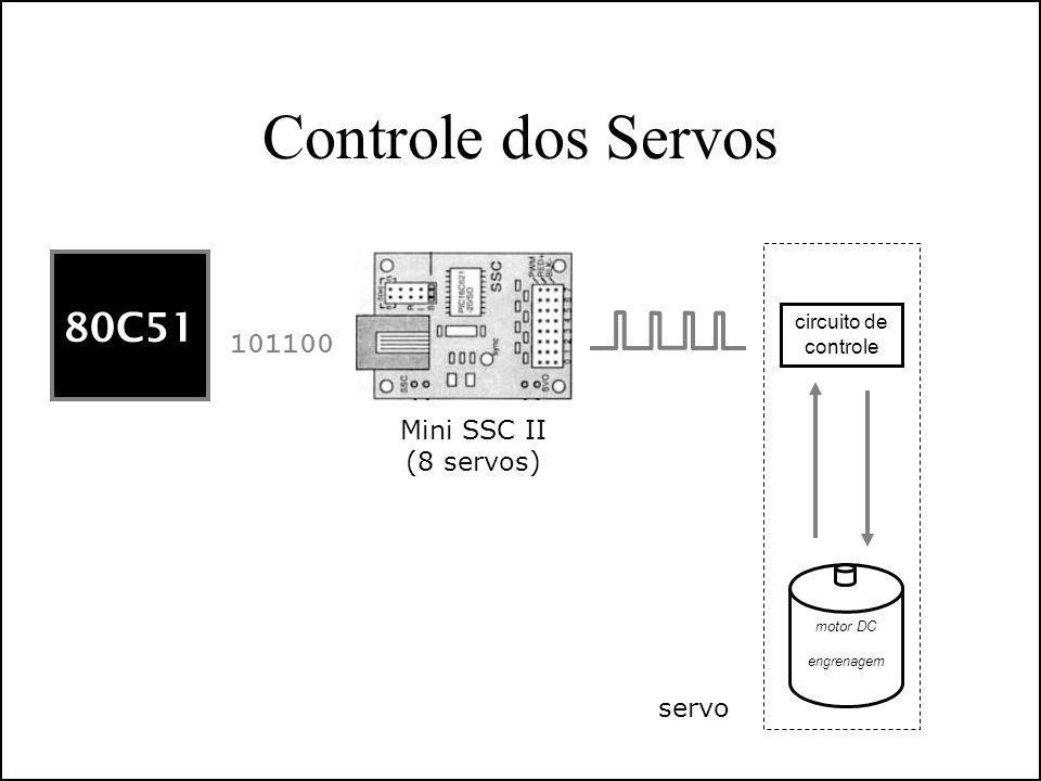 Controle dos Servos 80C51 101100 Mini SSC II (8 servos) motor DC engrenagem circuito de controle servo