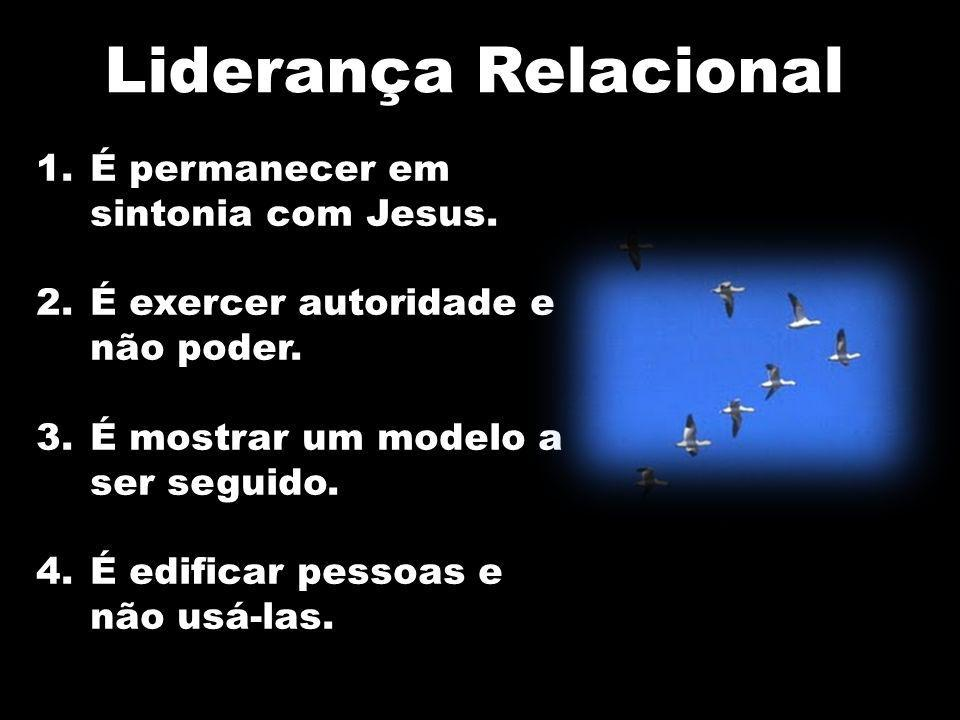 1.É permanecer em sintonia com Jesus. 2.É exercer autoridade e não poder. 3.É mostrar um modelo a ser seguido. 4.É edificar pessoas e não usá-las. Lid