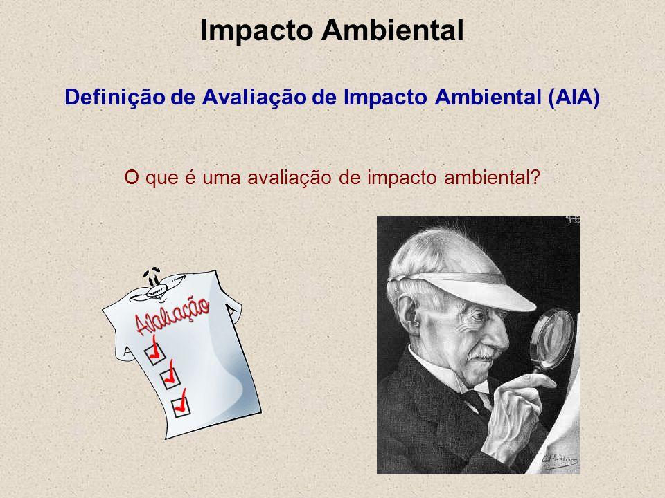 Impacto Ambiental Definição de Avaliação de Impacto Ambiental (AIA) O que é uma avaliação de impacto ambiental?