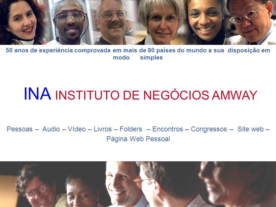 Pessoas – Audio – Vídeo – Livros – Folders – Encontros – Congressos – Site web – Página Web Pessoal INA INSTITUTO DE NEGÓCIOS AMWAY 50 anos de experiê
