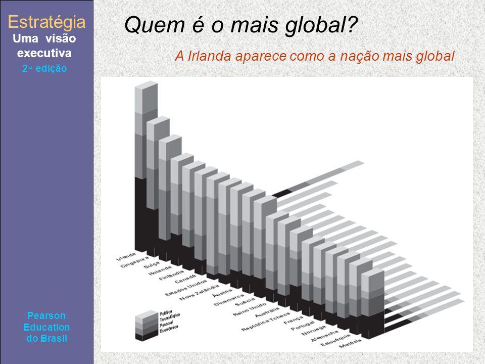 Estratégia Uma visão executiva Pearson Education do Brasil 2ª edição A Irlanda aparece como a nação mais global Quem é o mais global