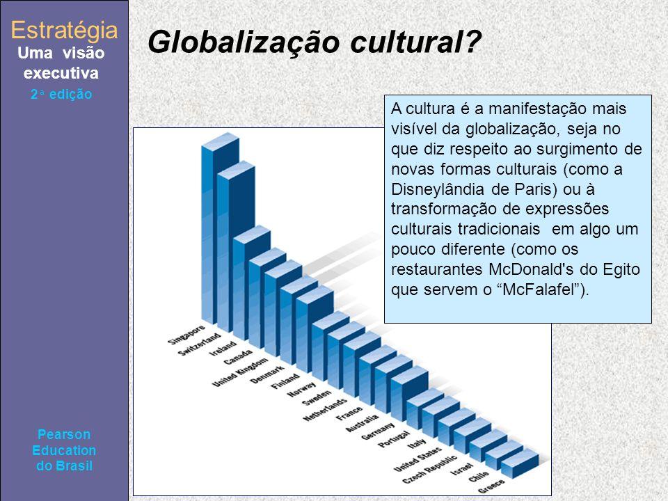 Estratégia Uma visão executiva Pearson Education do Brasil 2ª edição A cultura é a manifestação mais visível da globalização, seja no que diz respeito