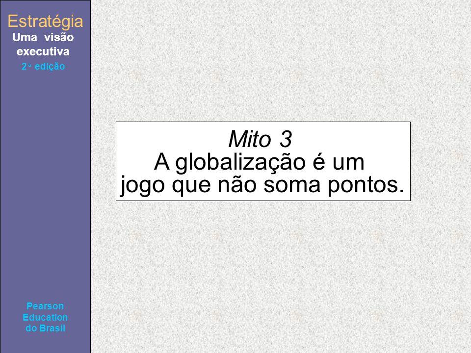Estratégia Uma visão executiva Pearson Education do Brasil 2ª edição Mito 3 A globalização é um jogo que não soma pontos.