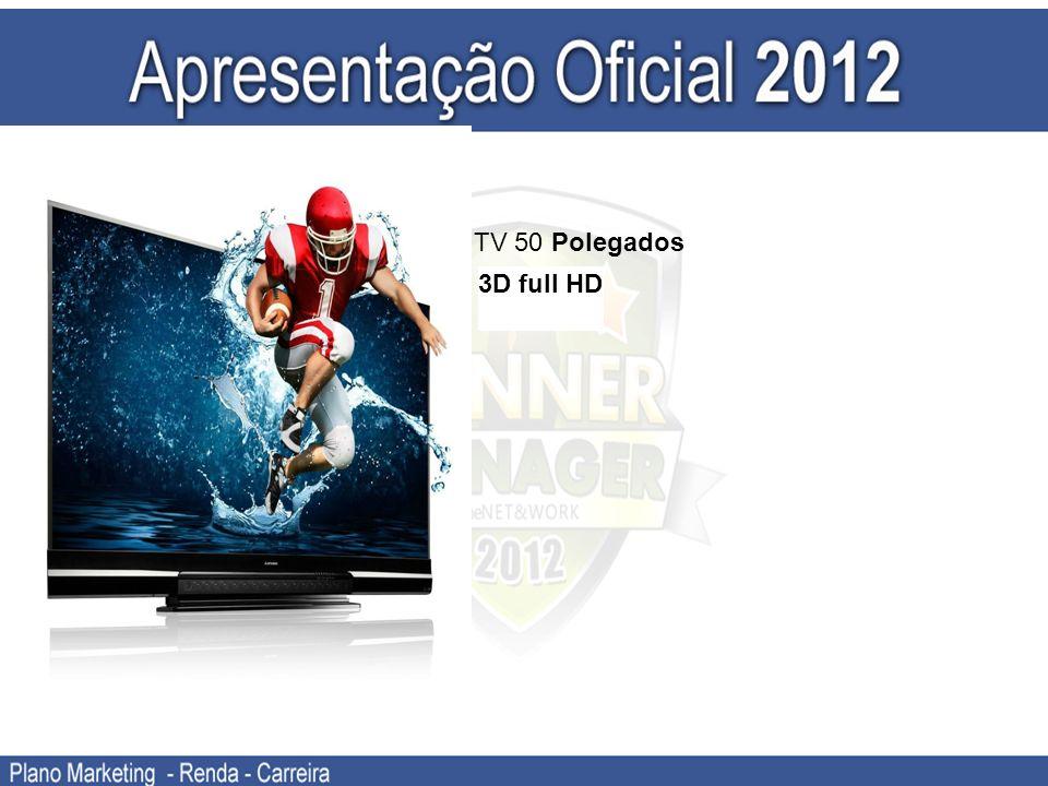 TV 50 Polegados 3D full HD