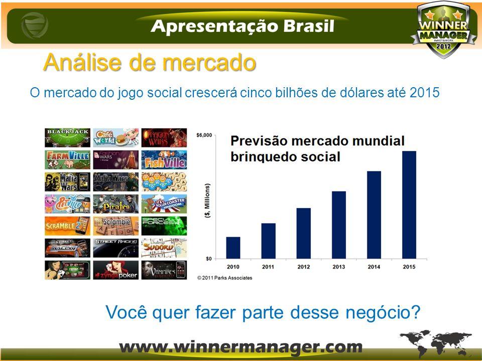 Análise de mercado O mercado do jogo social crescerá cinco bilhões de dólares até 2015 Você quer fazer parte desse negócio?