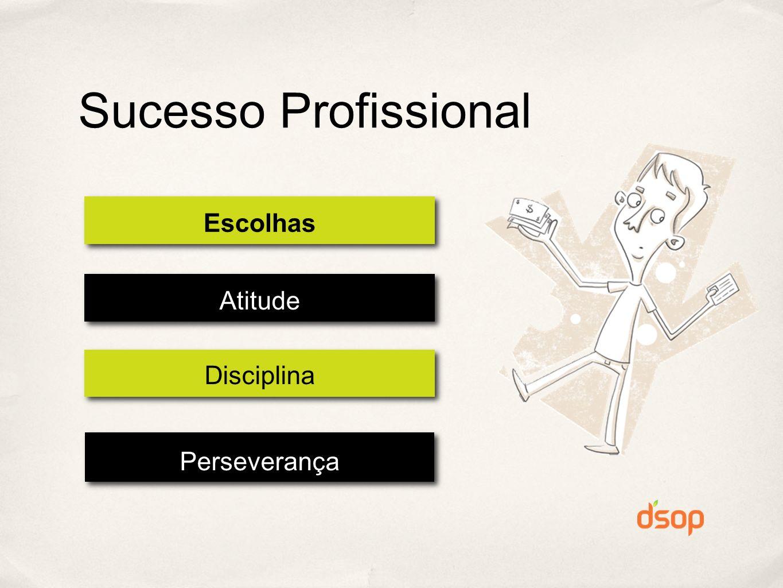 Escolhas Atitude Disciplina Perseverança Sucesso Profissional