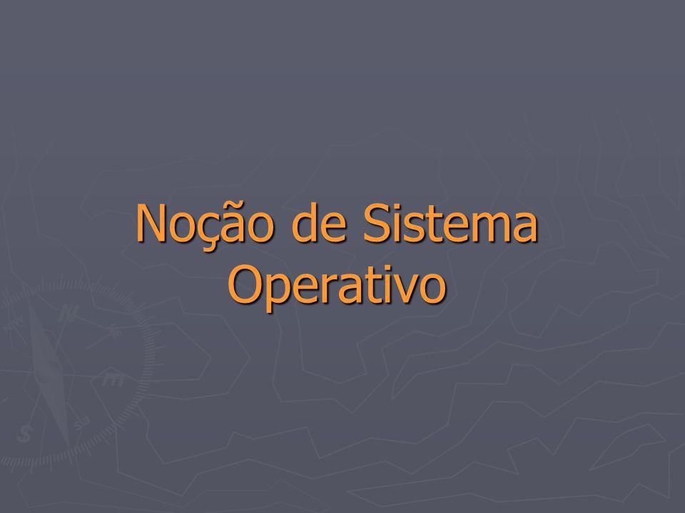 16 Introdução ao Estudo dos Sistemas Operativos Noção de Sistema Operativo Noção de Sistema Operativo um software de sistema, sendo portanto, um gestor dos recursos que compõem o computador : e um escalonador de trarefas.