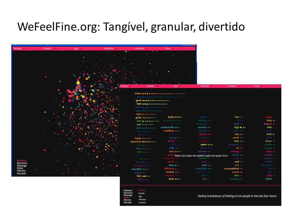 WeFeelFine.org: Tangível, granular, divertido