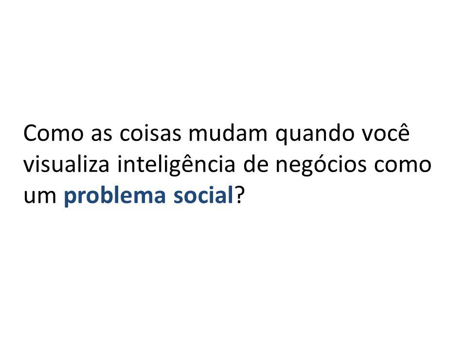 Como as coisas mudam quando você visualiza inteligência de negócios como um problema social?
