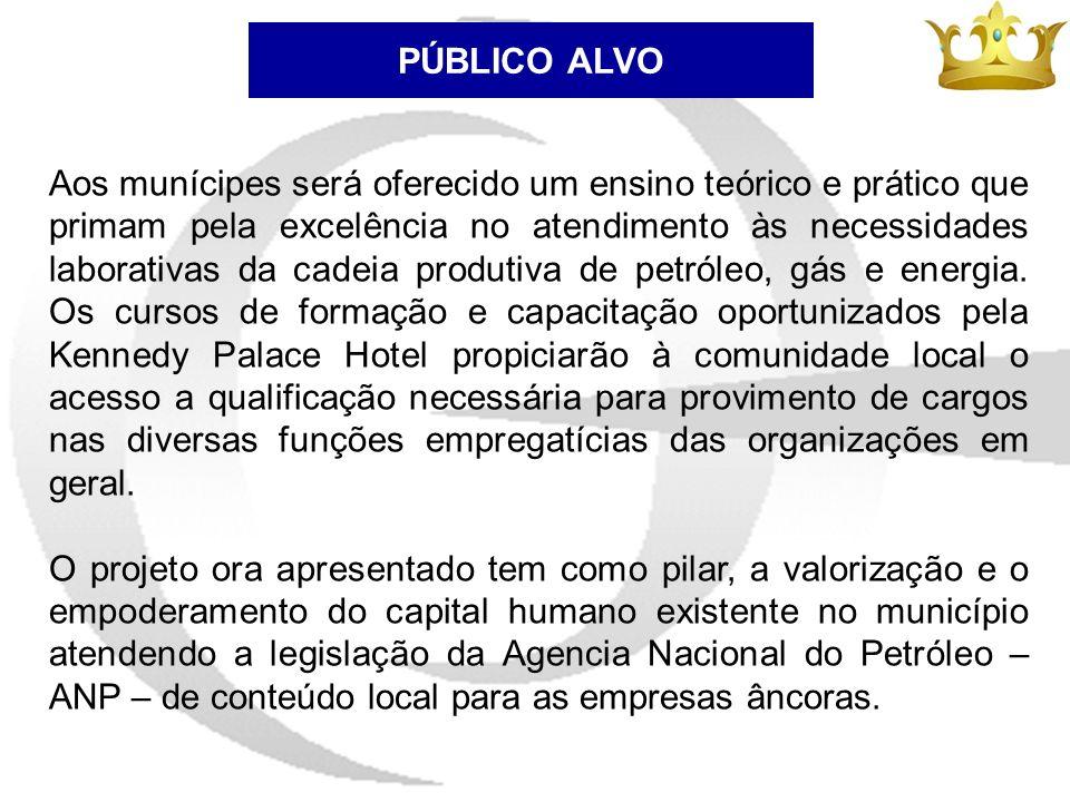 PÚBLICO ALVO Aos munícipes será oferecido um ensino teórico e prático que primam pela excelência no atendimento às necessidades laborativas da cadeia