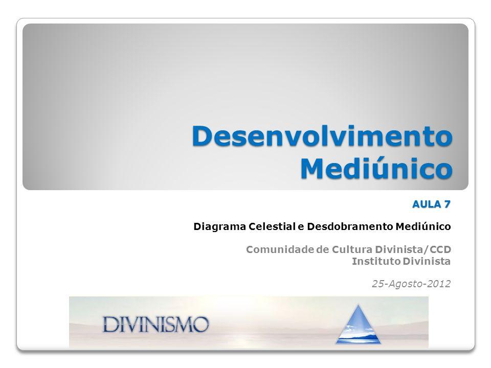 Desenvolvimento Mediúnico AULA 7 Diagrama Celestial e Desdobramento Mediúnico Comunidade de Cultura Divinista/CCD Instituto Divinista 25-Agosto-2012