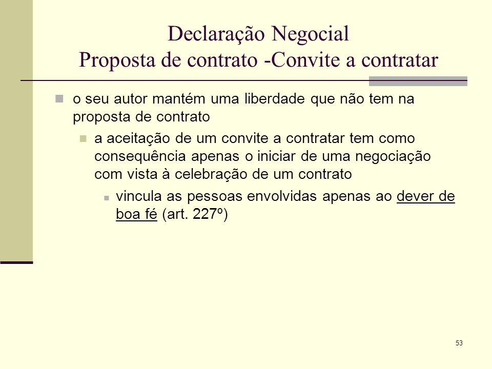 54 Duração da proposta contratual a proposta, em regra, caduca, ficando sem efeito, se decorrer o respectivo prazo sem o proponente ter recebido ou conhecido a aceitação