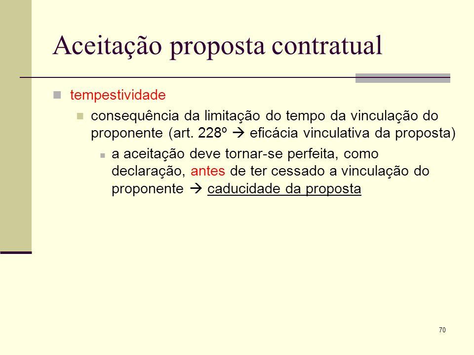 71 Aceitação proposta contratual tempestividade a situação da recepção tardia (art.