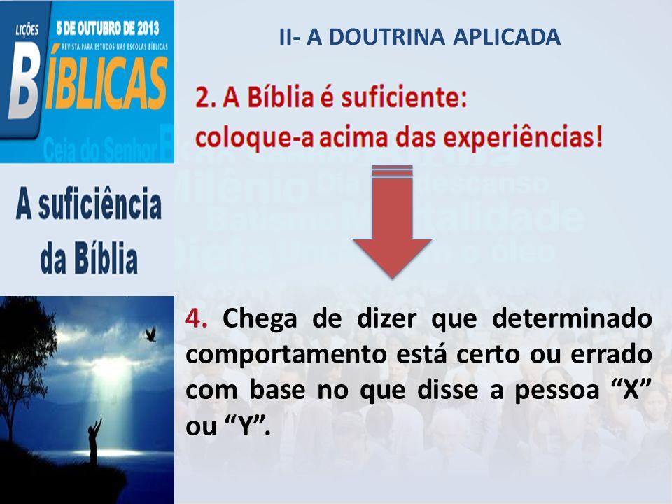 II- A DOUTRINA APLICADA 5.