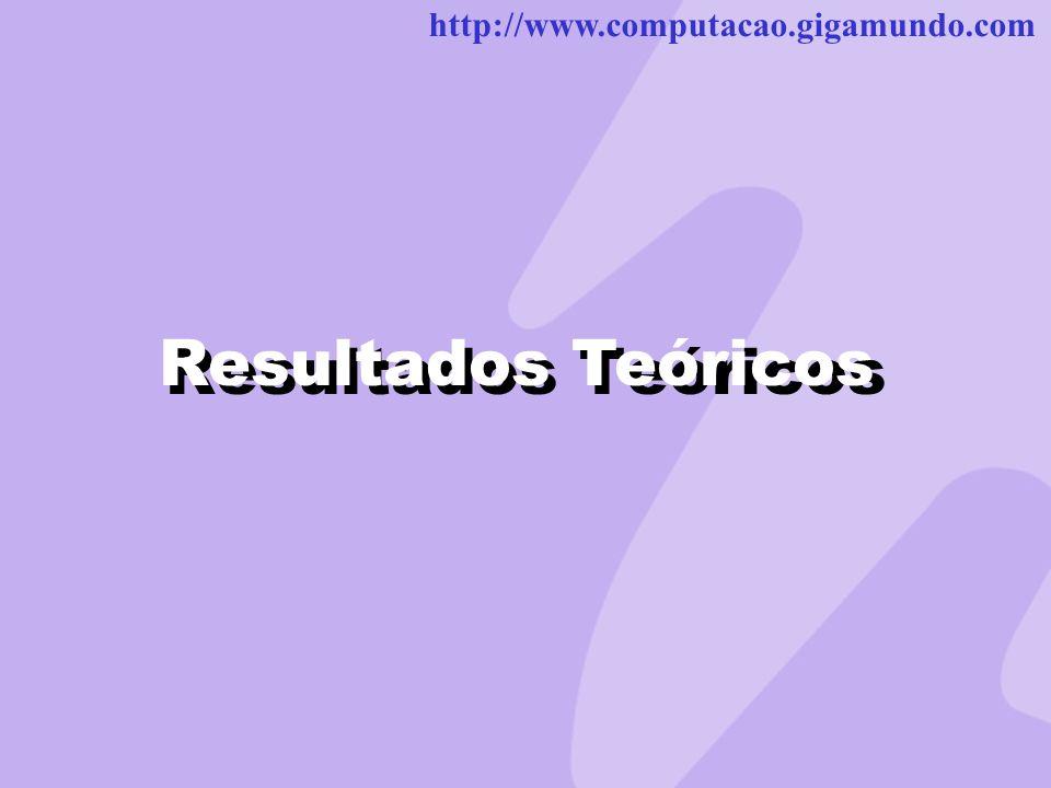 http://www.computacao.gigamundo.com Resultados Teóricos