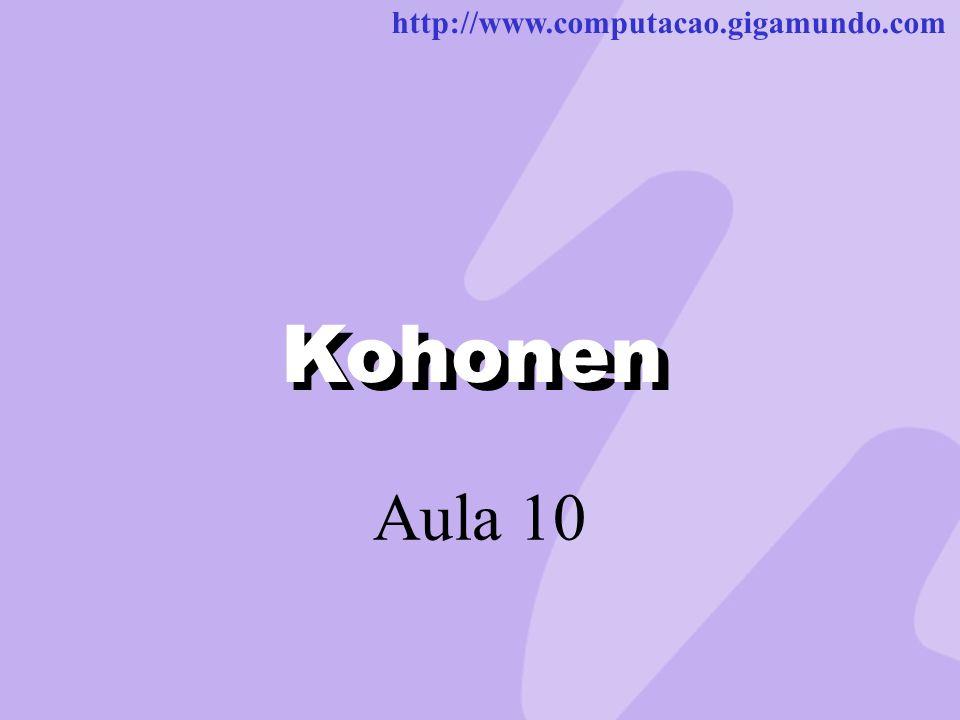 http://www.computacao.gigamundo.com Kohonen Aula 10 Kohonen