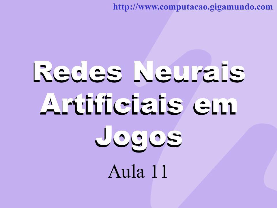 http://www.computacao.gigamundo.com Redes Neurais Artificiais em Jogos Aula 11 Redes Neurais Artificiais em Jogos