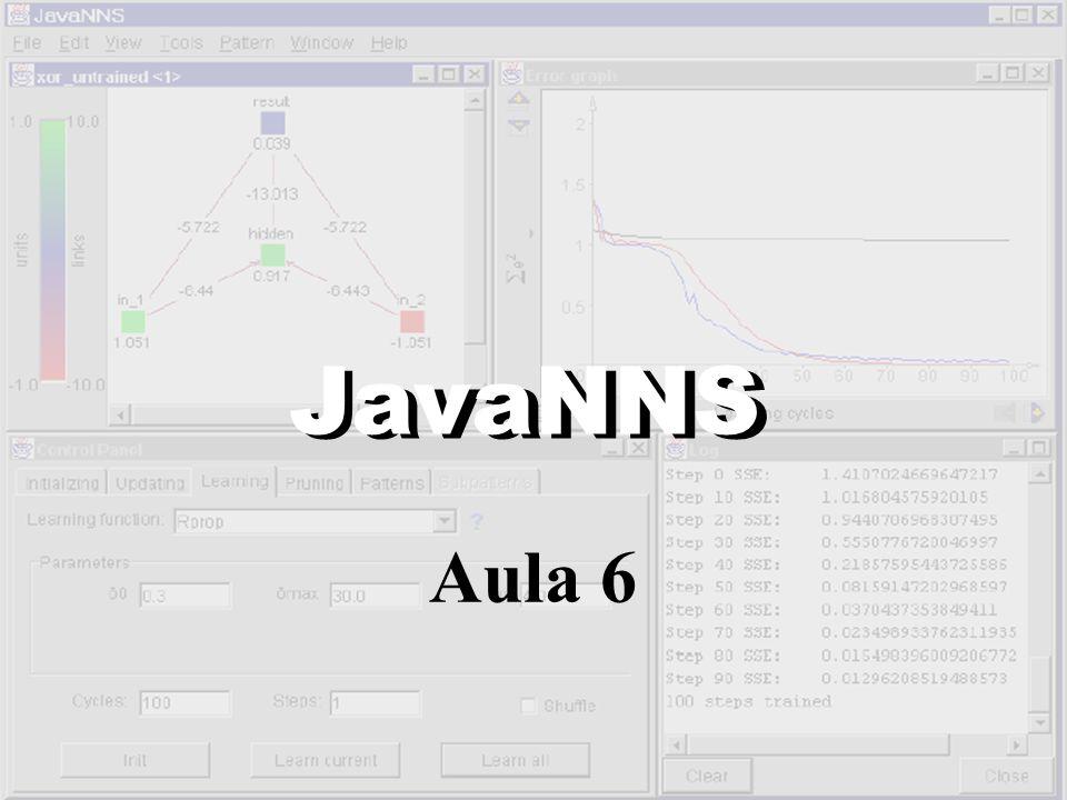http://www.computacao.gigamundo.com JavaNNS Aula 6 JavaNNS