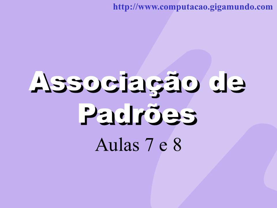 http://www.computacao.gigamundo.com Associação de Padrões Aulas 7 e 8 Associação de Padrões