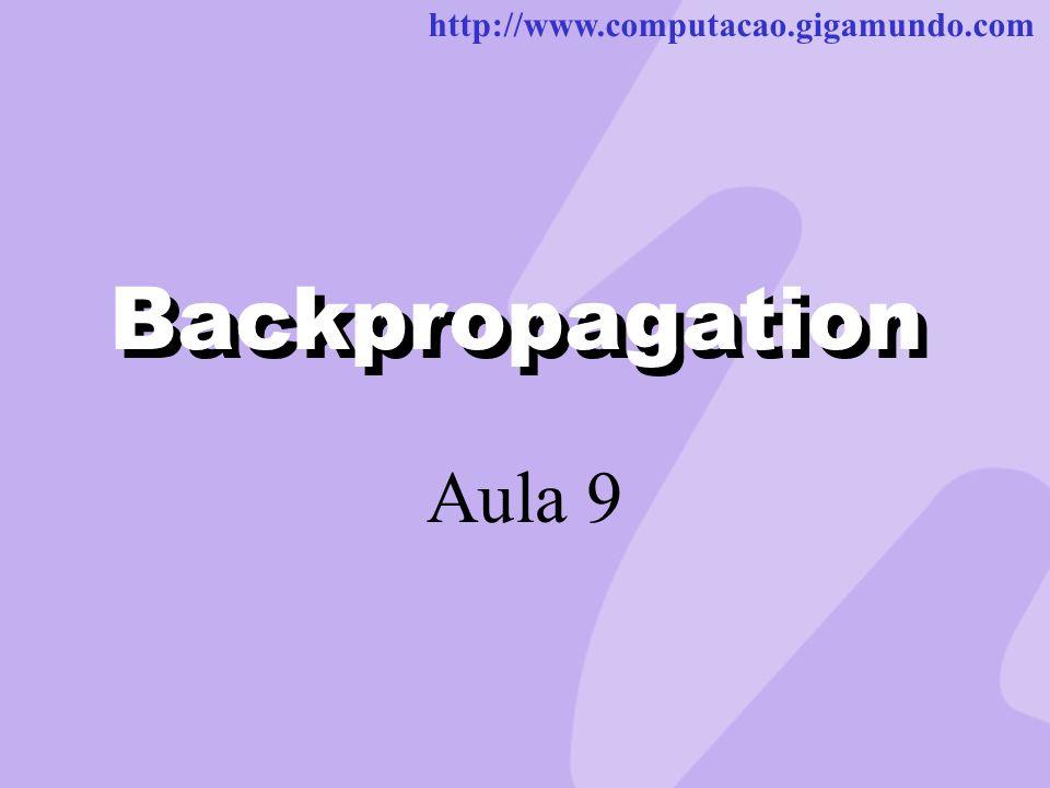 http://www.computacao.gigamundo.com Backpropagation Aula 9 Backpropagation