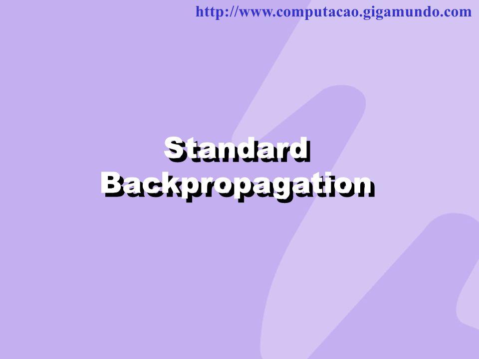 http://www.computacao.gigamundo.com Standard Backpropagation