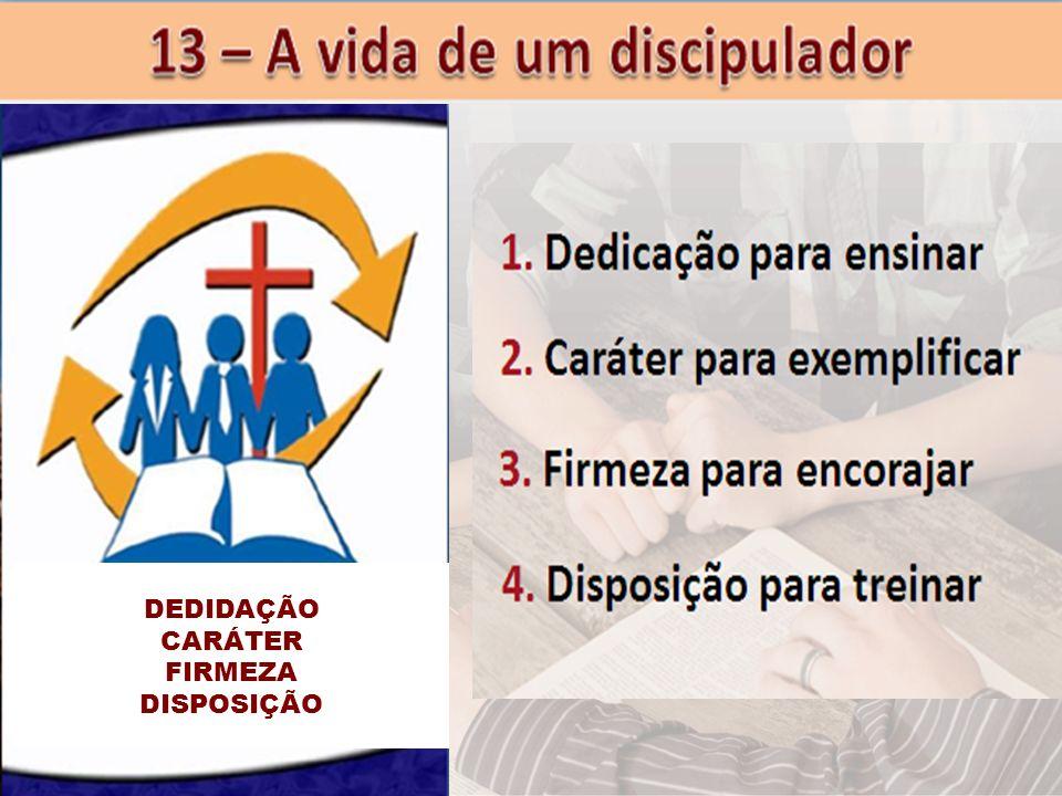 DEDIDAÇÃO CARÁTER FIRMEZA DISPOSIÇÃO
