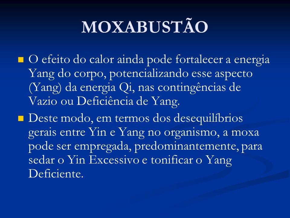 O efeito do calor ainda pode fortalecer a energia Yang do corpo, potencializando esse aspecto (Yang) da energia Qi, nas contingências de Vazio ou Defi