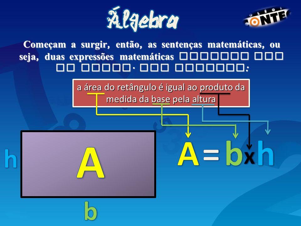 Com isso, surgiram as sentenças matem á ticas com o sinal =, que indica uma igualdade.