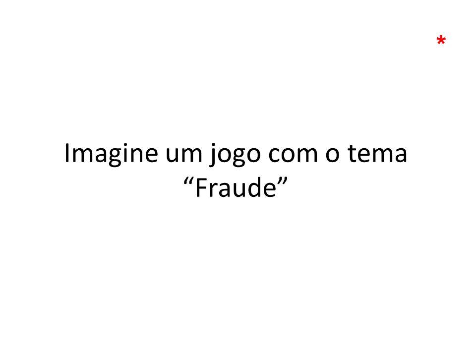 Imagine um jogo com o tema Fraude *