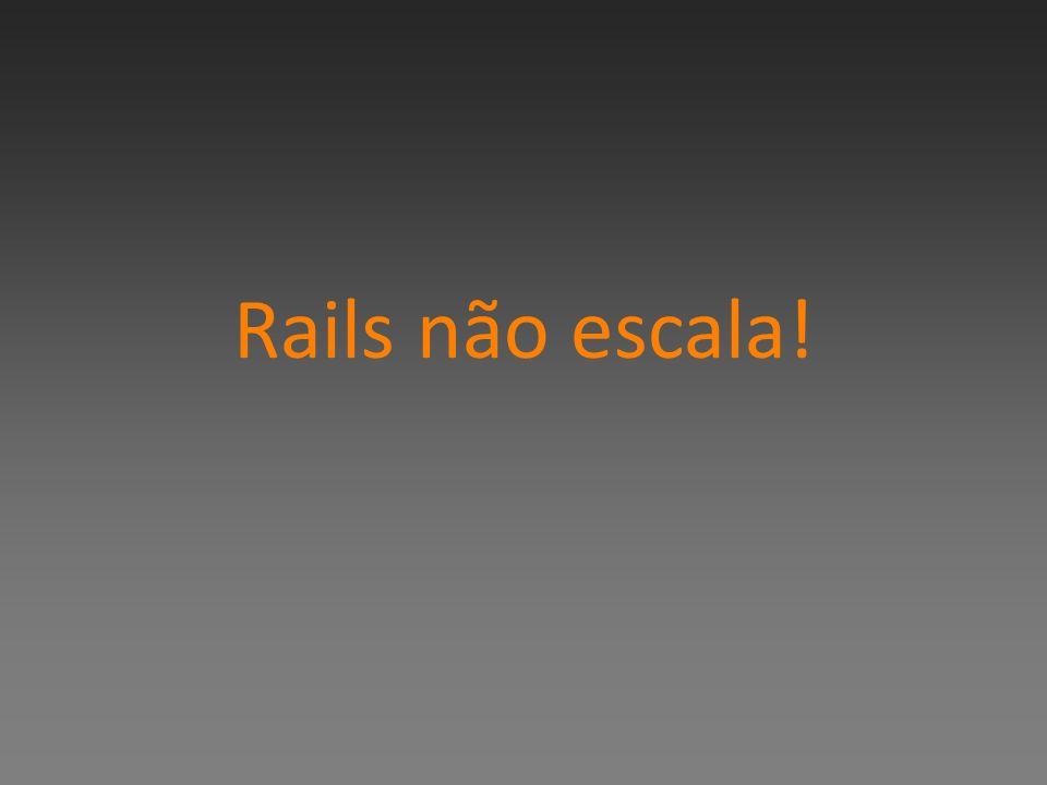 Rails não escala!